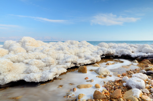 Dead Sea Salt Formations near Ein Gedi, Israel
